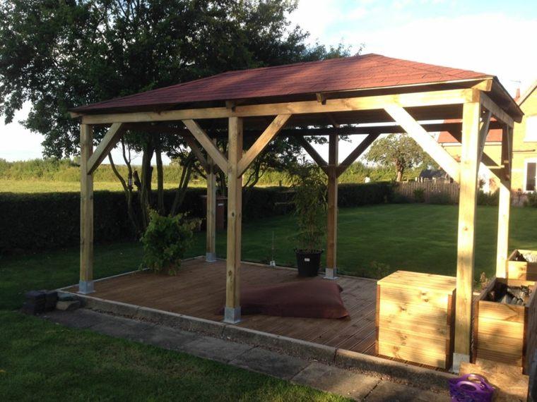 estructura madera gazebo diseño