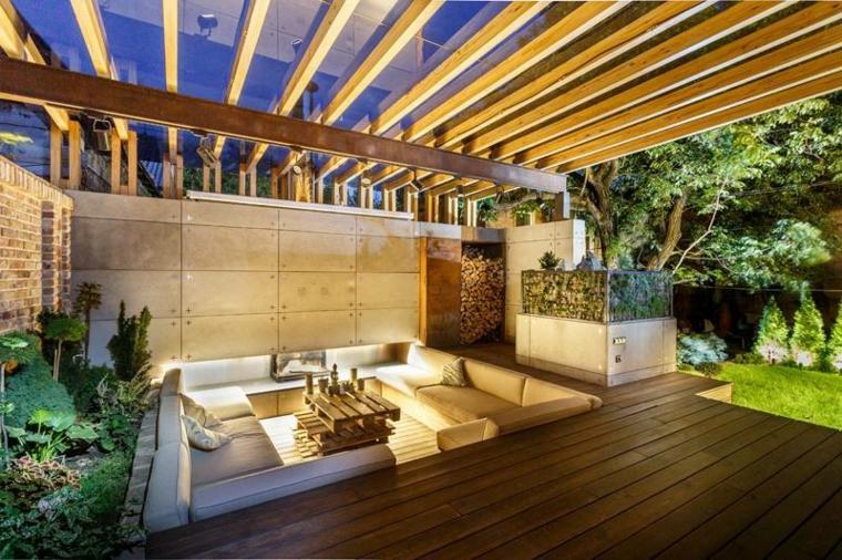 Sala de estar al aire libre dise ada por svoya studio for Estufas modernas 2016