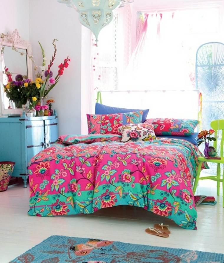 estupedno dormitorio estilo boho colores