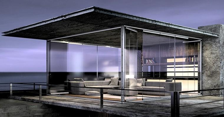 estupenda terraza modena vidrio