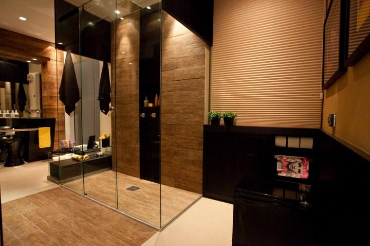 Baño Pequeno Suelo Oscuro:Cuartos de baño de estilo minimalista – 50 diseños oscuros -