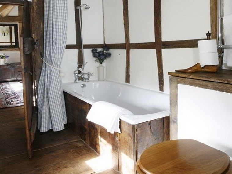Muebles de ba o modernos de estilo r stico 49 modelos for Rustic bathroom designs on a budget
