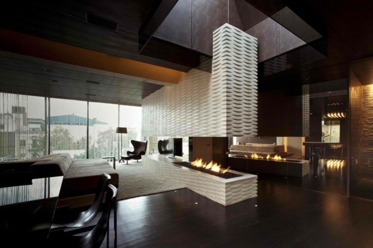 estupendo diseño chimenea moderna