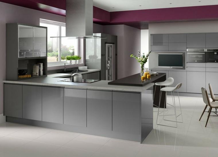 Cocinas blancas y grises los 50 dise os m s actuales for Cocinas actuales modernas