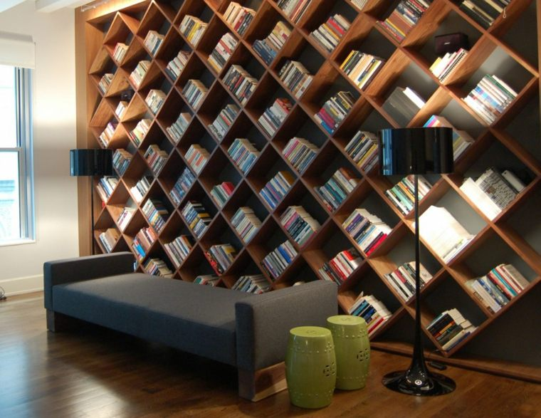 estupendo diseño estantes biblitecas grandes
