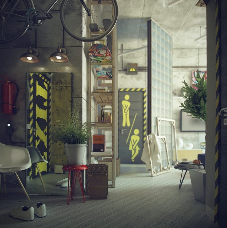 estupendo diseño interiores industriales
