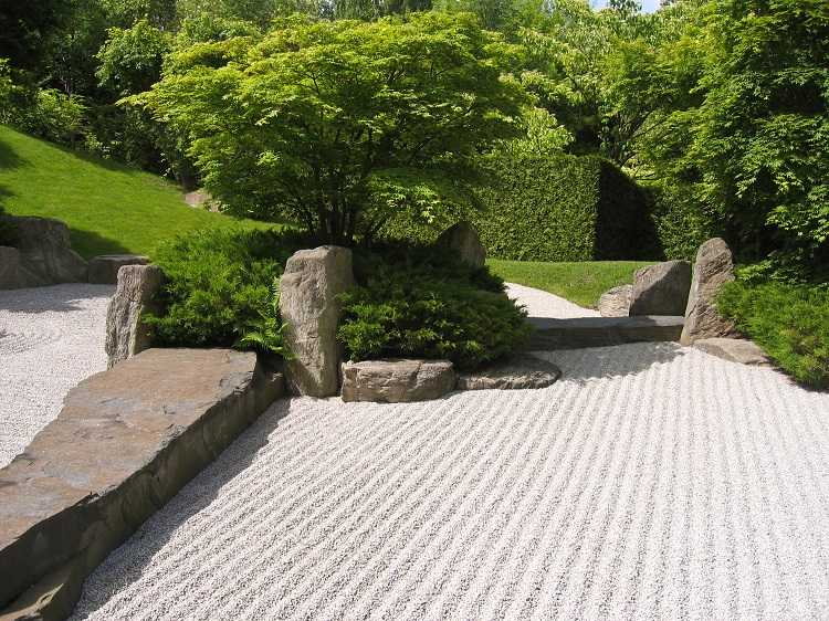 jardines japoneses estilo Zen