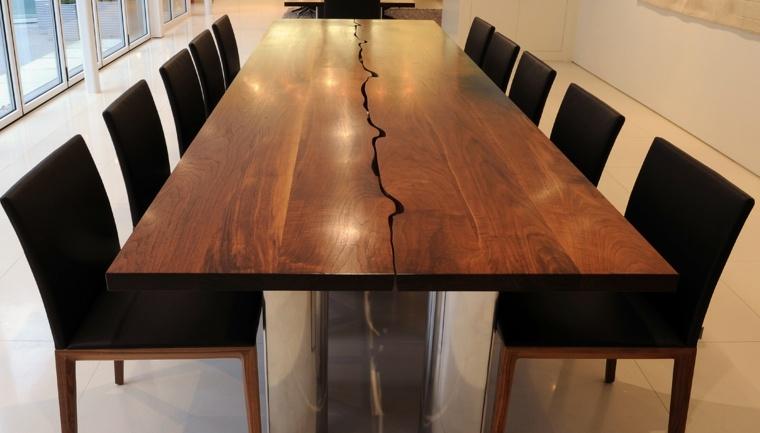 estupendo diseño mesa moderna madera