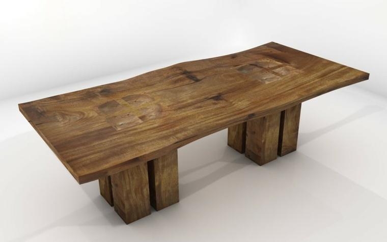 estupendo diseño mesa rústica