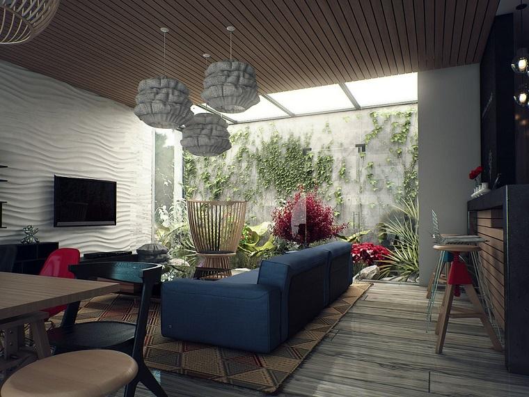 estupendo diseño salón patio