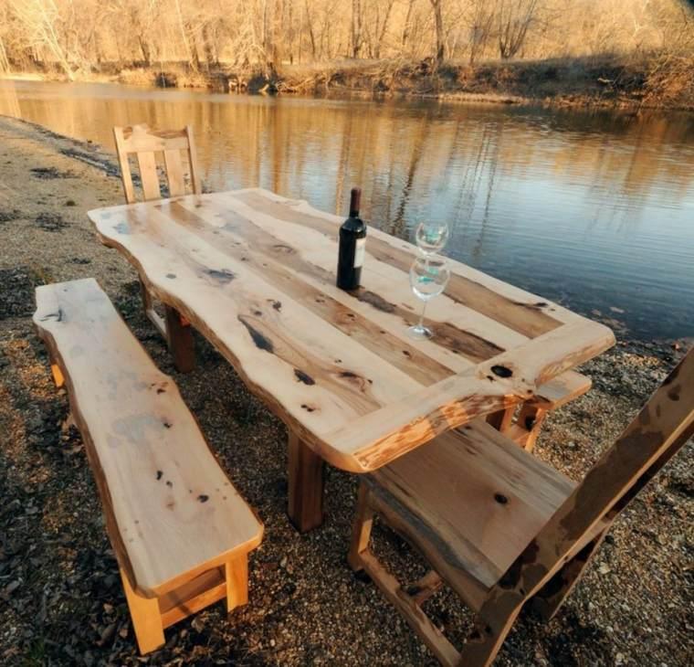 Mesas de comedor modernas de madera maciza 50 ideas for Muebles comedores de madera