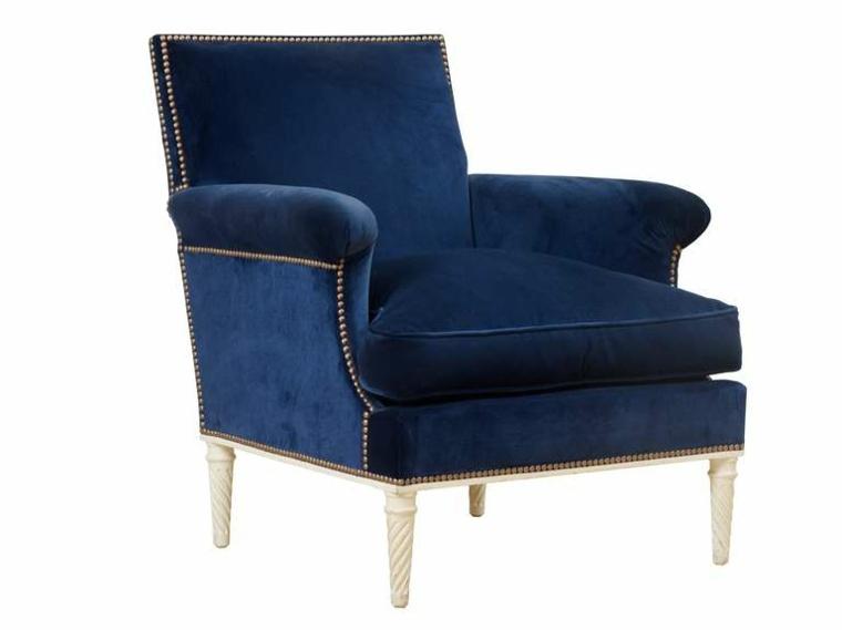 estupendo sillon terciopelo azul