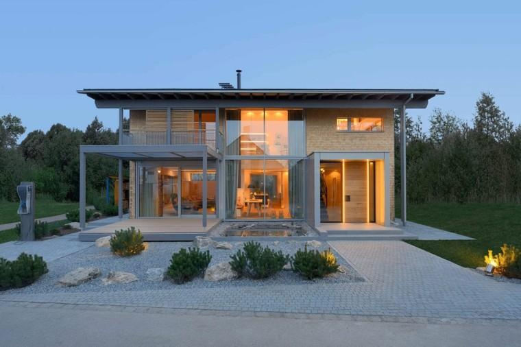 estupenda fachada casa moderna