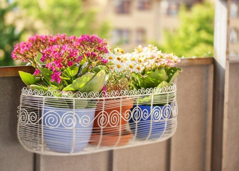 estupendo diseño jardinera metal