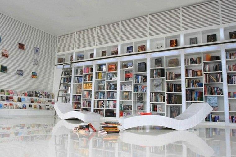 estupendo diseño sala libros mueble