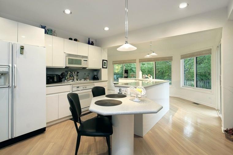 estupenda cocina blanca diseño moderna