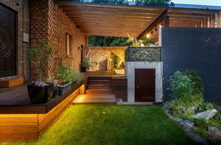 Sala de estar al aire libre dise ada por svoya studio for Jardin al aire libre de madera deco
