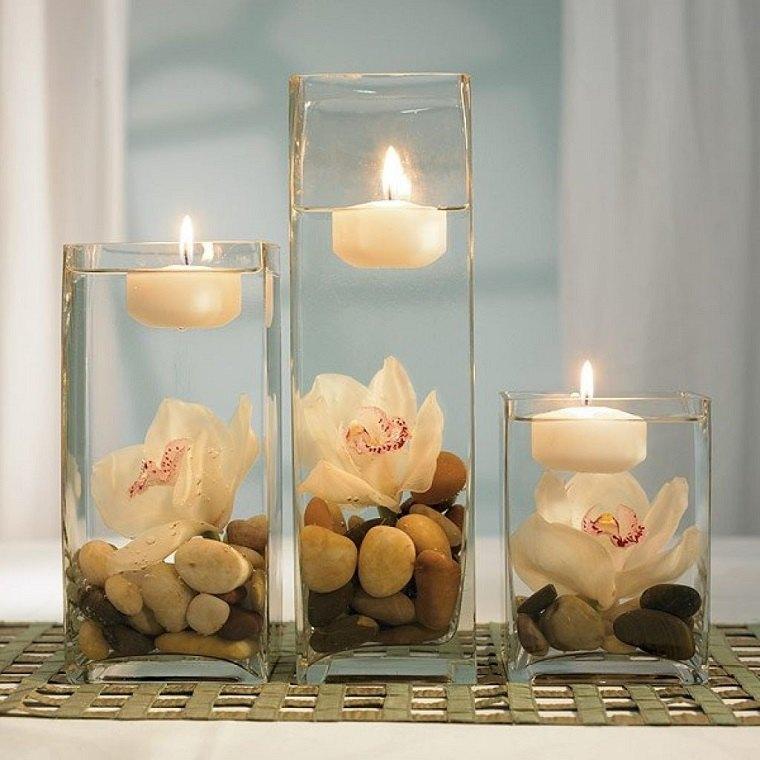 estupendo diseño adorno velas flotantes