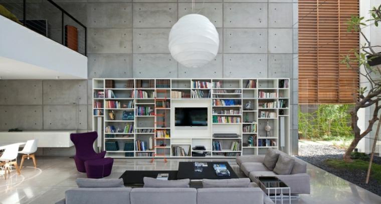 estupendo diseño interior pared cemento