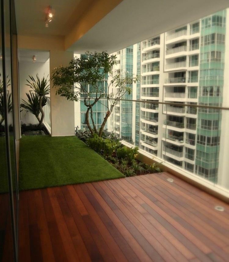 great closed balcony design