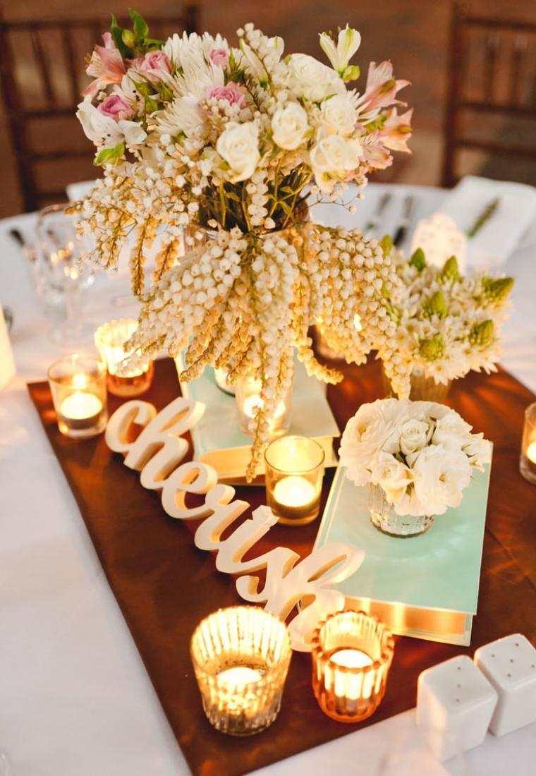 Decoracion boda vintage ambientes rom nticos con clase for Adornos d mesa para boda