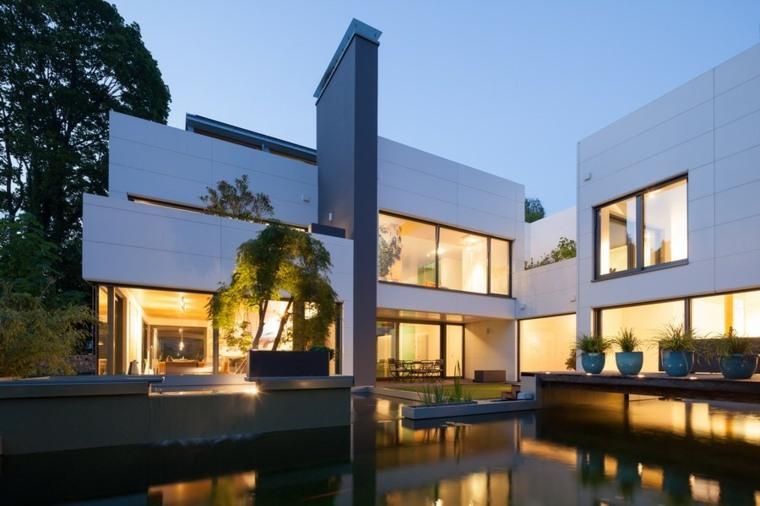 fachada exterior diseño moderno estanqeue