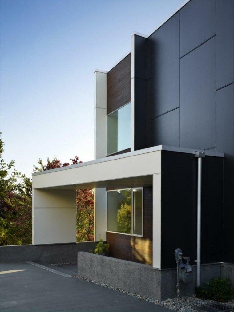 Fachadas de casas modernas treinta y ocho dise os for Modern minimalist house facade