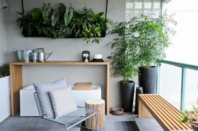 flores plantas balcon opciones colgar pared ideas