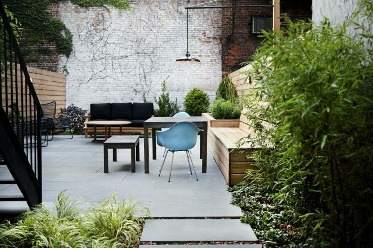flores plantas terraza moderna hierbas ideas
