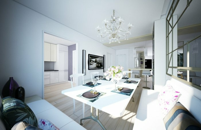 flores salones paredes soluciones blanco madera