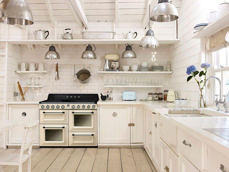 forma cocina diseno L clasica blanca ideas
