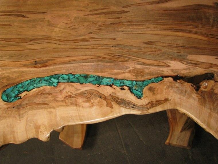 franjas madera llenas piedra turquesa