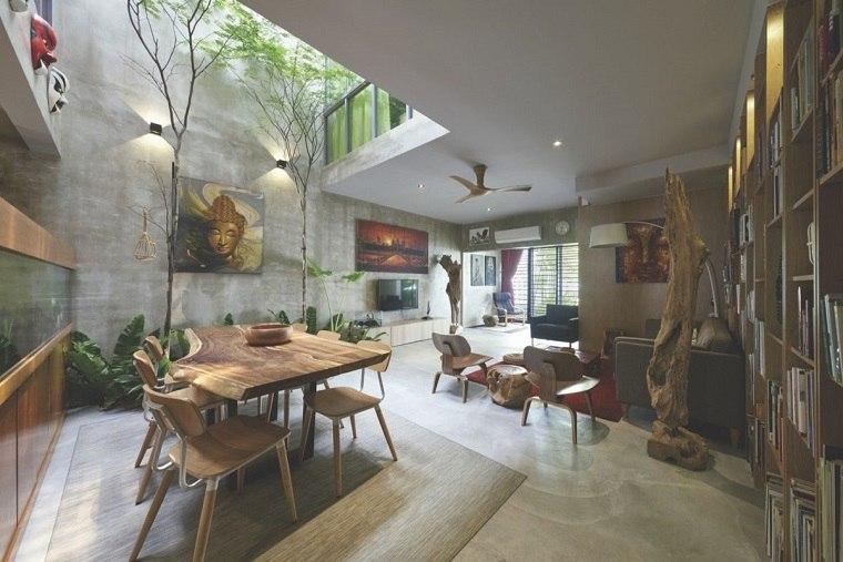 fresco madera preciosas interiores