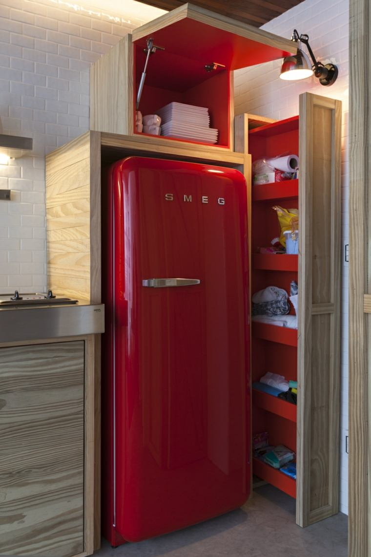 frigorífico diseño retro rojo