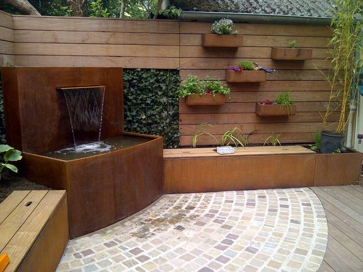 Acero corten la mejor soluci n para el jard n - Fuentes para terrazas ...