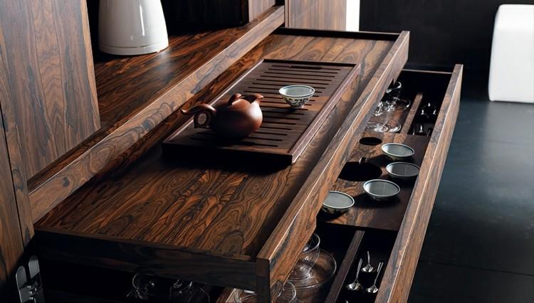 gaveteros vinos elegantes maderas cubiertos sillones