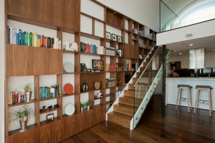 grises interiores variados detalles metales libreros