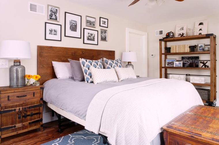 habitación elementos madera rustica