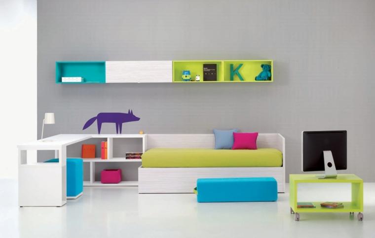habitaciones infantiles muebles diseño moderno