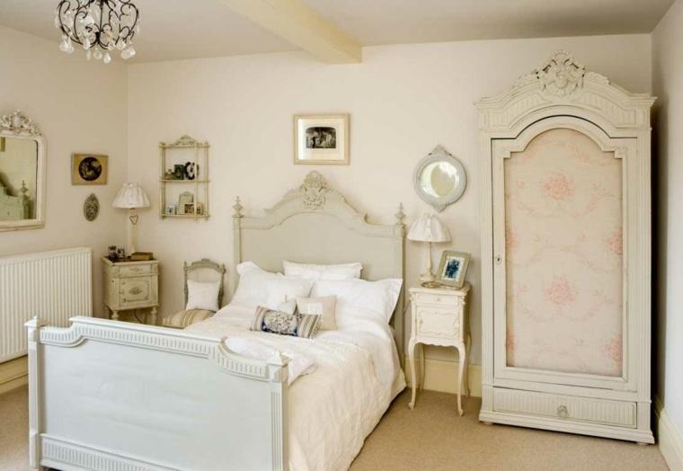 habitaciones estilo retro color beige