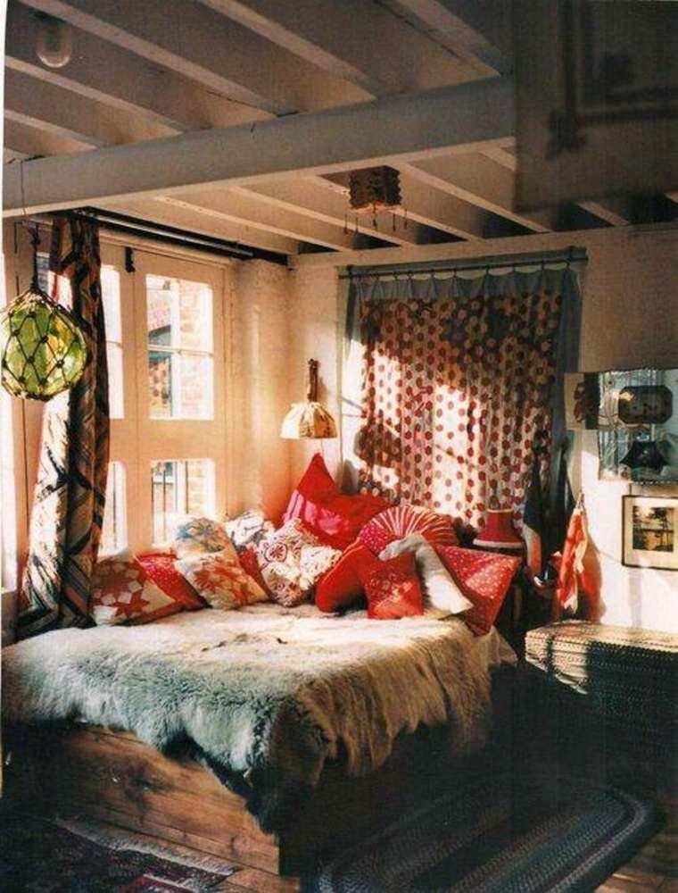 habitacion rustica estilo bohemio