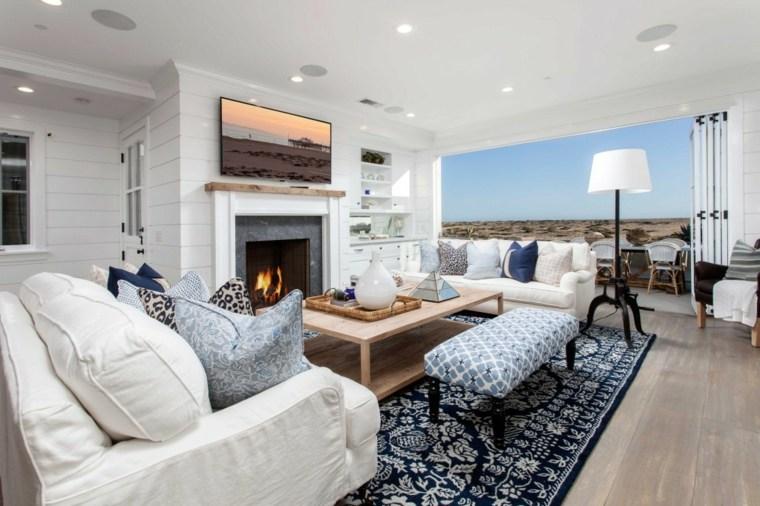 Ideas decoracion interiores 50 salones de dise o for Chimeneas en apartamentos pequenos