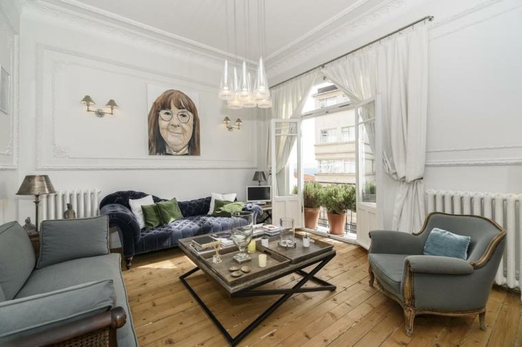 ideas decoracion interiores salones cuadro original moderno