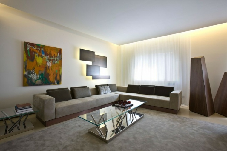 ideas decoracion interiores salones cuadro precioso pared moderno