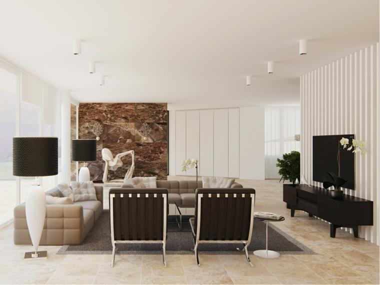 ideas decoracion interiores salones lamparas pie moderno