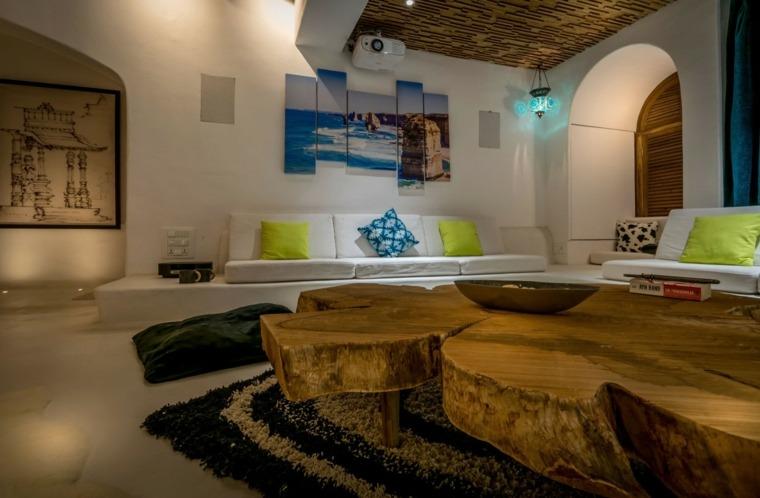 decoracion interiores salones mesa madera moderno