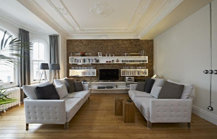 decoracion interiores salones sofas preciosas ideas