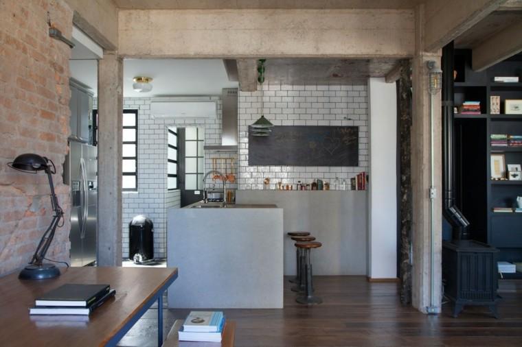 ideas cocinas losas color gris moderno ideas