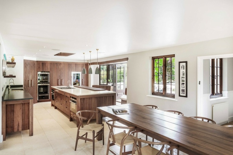 ideas cocinas muebles madera moderno