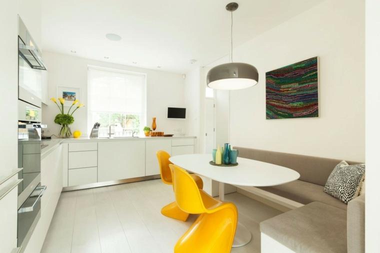 cocinas sillas amarillas pequena ideas